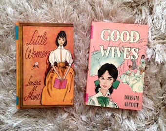 1968 Little Women, Good Wives, Louisa May Alcott, Vintage Louisa May Allcot Books, 2 Volumes