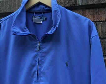 Quarter Zip Polo Pull Over Jacket