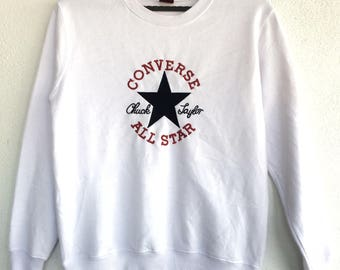 Vintage Converse Spellout Sweatshirts Size M/Sweater/Hoodie Jacket/Casual/Streetwear