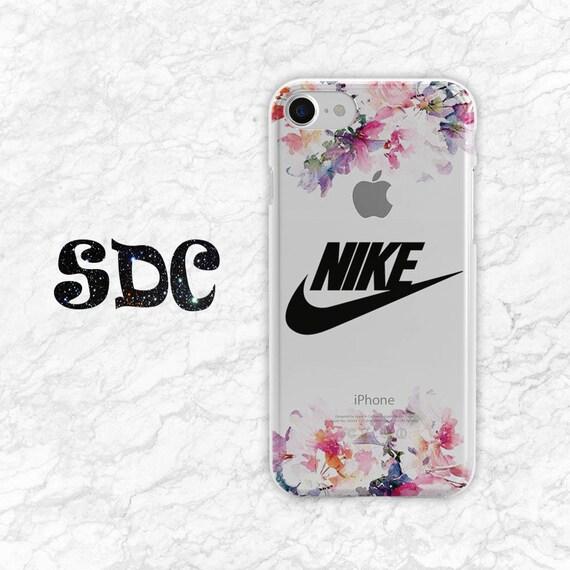 Fabuleux Floral coque en Silicone Nike téléphone iPhone 7 cas Nike OB16