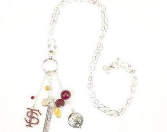 """Florida State Cluster Necklace 30"""""""