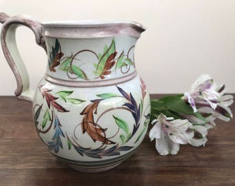 Glyn Ware Hand Painted Water Jug from Denby Pottery. Signed by Glyn Colledge. Vintage - Retro - 1950's