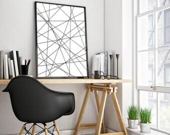 Black White print, Stripes Wall art, Download Print, Black Stripes print, Instant download, Printable Art, Digital Print, Black White Print