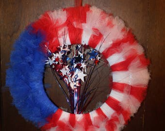 Red, White and Blue Splash Wreath