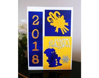 2018 greeting card, happy new year, new years cards