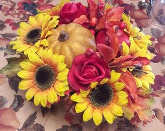 Fall decorative center pieces