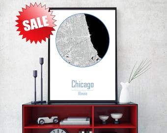 CHICAGO CITY, Chicago art, Chicago print, Chicago map art, Chicago Illinois, Chicago wall art, Chicago canvas, Chicago map print, Wall art