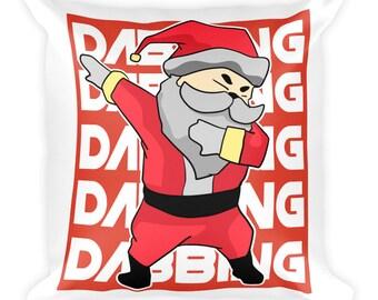 Dabbing Santa | Santa Decor | Santa Pillow | Funny Christmas Pillow | Santa Claus Pillow | Funny Santa | Dabbing Gift | Santa Dabbing