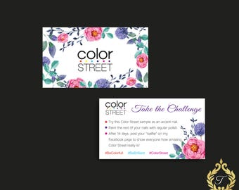 Color Street Challenge Card Business, Instant Digital Download, Color Street Marketing, Printing Ready  CL03