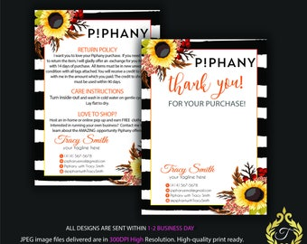 Piphany Care Instruction Card, Piphany Thank You Card, Personalized Piphany Card, Piphany Marketing - Printable Card, Digital file PP02