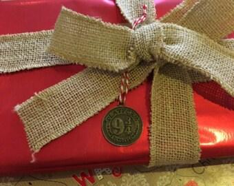 Harry Potter Style Christmas Tree Decoration, Xmas, Bauble, Ornament, Platform 9 3/4, Hogwarts, Present, Charm
