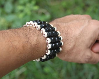 Wooden Bead Stretch Elastic Bracelet