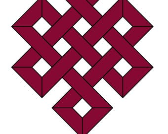 Stained glass pattern, PDF pattern, the endless knot, vitrage pattern, glass design, glass gift, painting glass