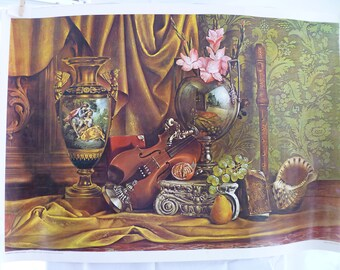"""Roberto Lupetti """"Still life with musical instruments"""" Poster"""