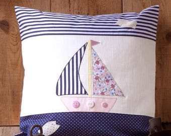 Pillow cover 40x40 cm with embroidery