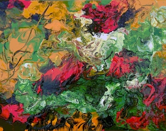 """Art/painting/abstract """"Roses"""" 30 x40 cm"""