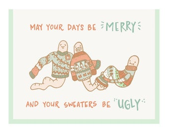 Ugly Sweater Holiday Card