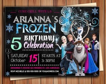 Frozen Birthday Invitation, Frozen Birthday Party, Frozen Invitation, Frozen Birthday Invitation, Disney Princess Invitation, Frozen Party