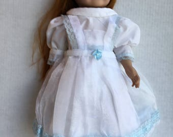 """Dress with pinafore fits 18""""dolls such as American girl"""