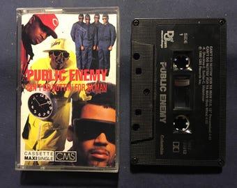 Public Enemy - Can't Do Nuttin For Ya Man Cassette Tape 1990 Release - Rap , Hip Hop - OOP Rare