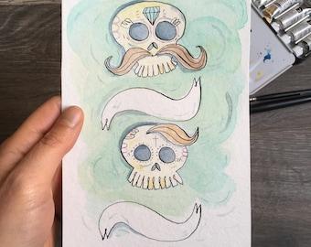 Illustration original skull