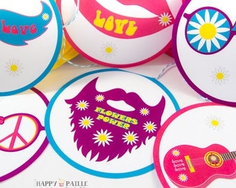 Garland Hippie - Flowers power - Peace & love