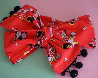 Red Minnie Mouse Head Wrap