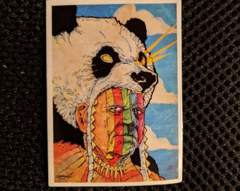 Shaman in a Panda Suit Sticker