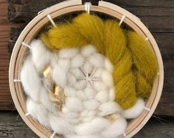 Mini woven embroidery hoop ornament/mini wall hanging