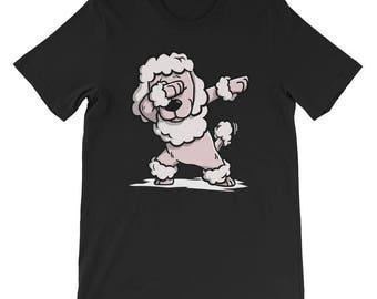 Cute Poodle Dog Dabbing T-Shirt Funny Dab Dance Gift Shirt
