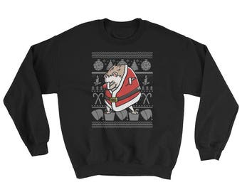 Funny Dabbing Hedgehog Ugly Christmas Sweater Cute Pet Gift