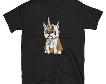 Funny Unicorn English Bulldog T-Shirt, Cute English Bulldog Gifts, Bulldog Shirt