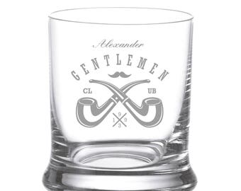 "Leonardo Whisky glass engraving engraved Individually ""Gentlemen 2"" Wish name Whiskey Glass whiskey"