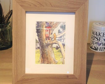 Framed, Vintage Winnie-the-Pooh Illustration, by E H Shepard