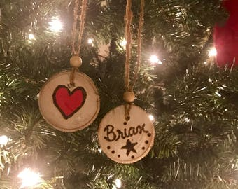 Personalized Wood Slices Ornaments or Gift Tags