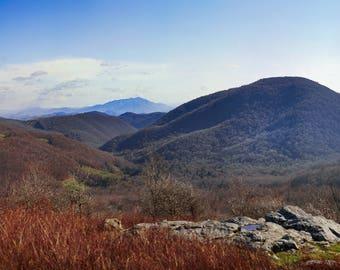 Virginia Mountains-Mount Rogers Virginia,Appalachian Trail Virginia,Landscape Photography,Mountain Photo, Wall Art, Home Decor, Mountain Art