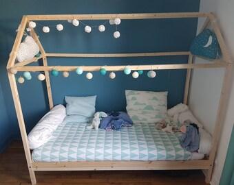 Handmade child's cabin bed