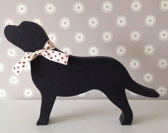 Black Labrador wooden Decoration, Gift