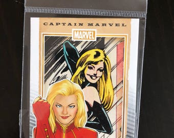 Captain Marvel Fridge Magnet