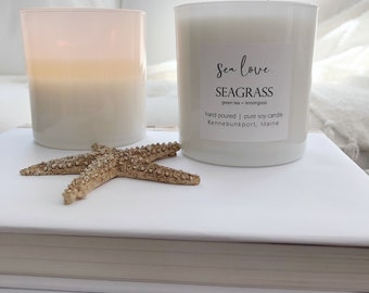 SEAGRASS • soy candle, lemongrass candle, hand poured soy candle, vegan soy candle, natural candle, Sea Love Candle