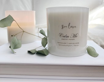 CALM ME • soy candle, spa candle, hand poured soy candle, vegan soy candle, natural candle, aromatherapy candle