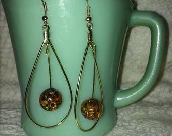 gold hooped earring