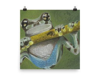 Tree Frog - Beautiful Archival Cotton Rag Fine Art Giclée Print Supporting the Nonprofit Fresh Artists