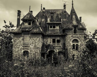 The old house, Urbex, abandoned manor, urban exploration, sepia, original gift, fineartphotography, home decor
