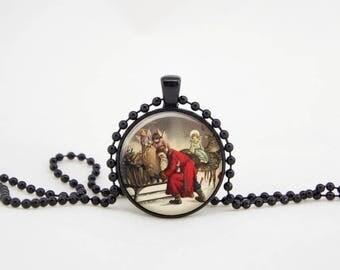 christmas pendant, santa pendant,christmas pendants,christmas charm, christmas necklace, christmas jewellery,christmas necklace