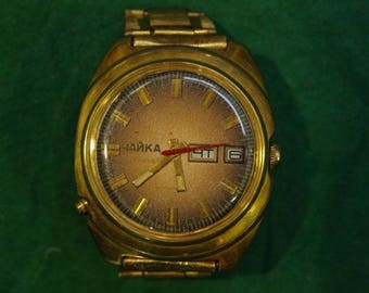old vintage wrist watch SLAVA , Men's Wrist Watches, mechanical wrist watch, USSR wrist watch, russian watch ,soviet watch