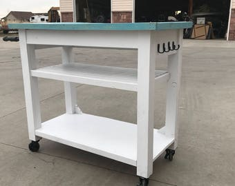 Industrial Farmhouse Kitchen Cart