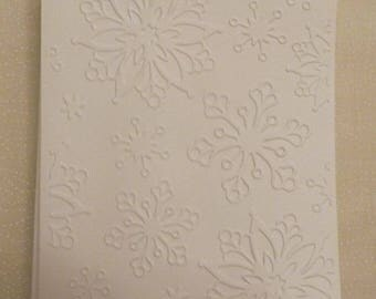 Handmade Snowflake Embossed All Occasion Greeting Cards, Set of 5, Handmade Greeting Card, Colorgul Card,  Made in the USA, #92