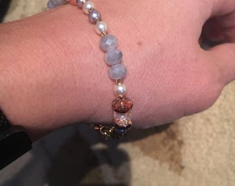 Larger wrist pink/lavendar
