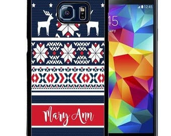 Christmas Personalize Rubber Case For Samsung Note 3, Note 4, Note 5, or Note 8- Sweater